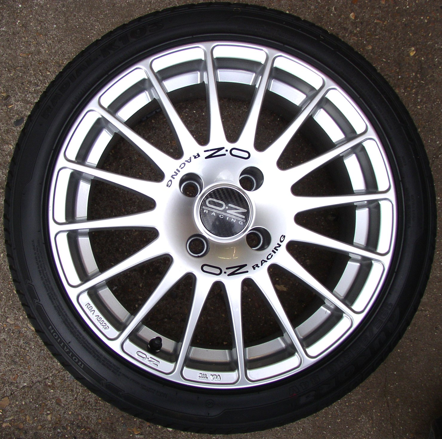 Oz Supertourismo Gt Multispoke Silver Alloy Wheels Jx Xmm Pcd Offset Et Removed From Peugeot Gti But Willl Fit Many  Stud Peugeots